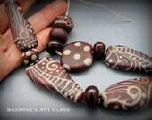Modern Egypt - Handmade Lampwork Bead Set  - by Suzanne Hansen