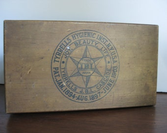 Reduced!  Tyrrell's Hygienic Institute, USA Wooden Box / Antique