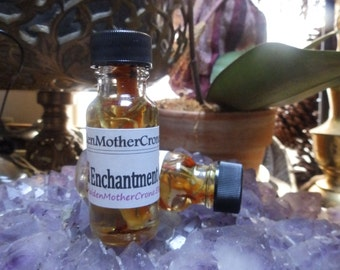 Enchantment Oil Wicca Pagan Spirituality Religion Ceremonies Hoodoo Metaphysical MaidenMotherCrone