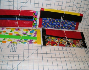 Duct Tape Pencil Case - Handmade 4 available options Super Mario Angry Birds Polka Dots Splattered Paint