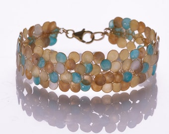 Colorful Wire Wrapped Handmade Bracelet, Artisan Bracelet, Fashion Bracelet, Modern Bracelet, Chic Enamel Green Bracelet,Women Bracelet Gift