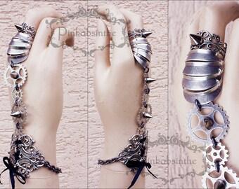 Armored gothic cuff