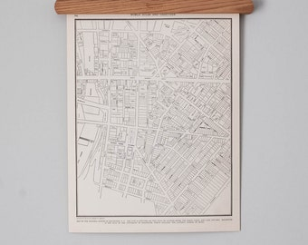 Rochester NY 1930s City Map | Antique Upstate New York Map