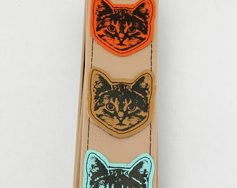 Cat Guitar Strap - Multi Color Cats - Vegan - Mr. Whiskers approves this strap
