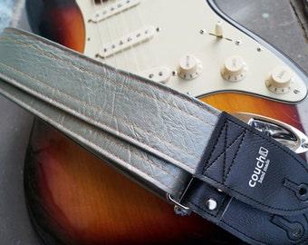 Vintage Cadillac Silverburst Guitar Strap - Cadillac Hardtop Vinyl