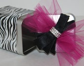 Decorative Tin Can Zebra and Hot Pink