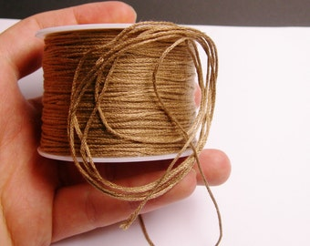 Cotton Cord - knotting - embroidery cord - 1mm - 120 meter - 390 foot - beige - CTN13