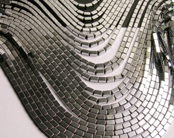 Hematite silver  5mm rectangle beads -  full strand - 80 beads - AA quality  - 5x3 - PHG57