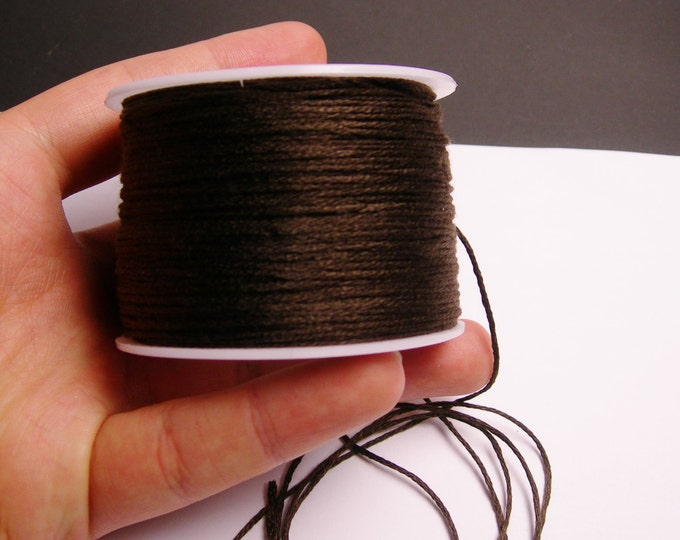 Cotton Cord - knotting - embroidery cord - 1mm - 120 meter - 390 foot - dark brown - CTN12