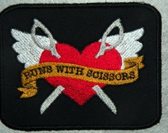 Runs with Scissors Iron on Patch