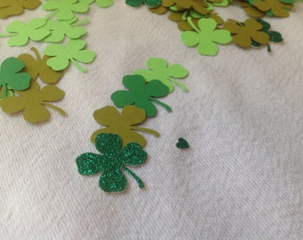 Shamrock, Four Leaf Clover, St. Patrick's Day Confetti, Lucky in Love -125 pieces