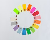 100 Parcel Gift Tags / You Pick Color