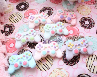 Kawaii Pastel Controller Necklaces  Hair Clip Version 1 Pick One