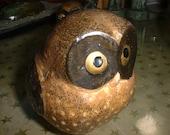"Mid Century OWL Made in Japan Ceramic Group Medium One 3.5"" Tall"