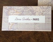 RESERVED World Map Place Cards/Escort Cards