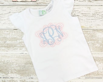 Monogrammed Shirt, Personalized Shirt, Toddler Girl Boutique Clothing