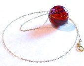 Red, Gold and Black Blown Glass Necklace - CorkyWhites
