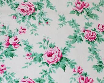 """LAMINATED Cotton  - Rose Vine, 56"""" Wide, BPA & PVC Free"""