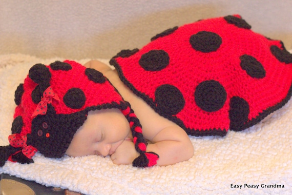 Items Similar To Crochet Pattern Ladybug Newborn Baby
