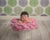 Chunky blanket, newborn photo prop