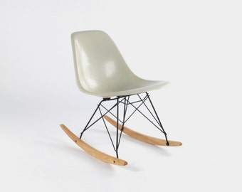 Eames for Herman Miller Fiberglass Side Chair Rocker-RSR