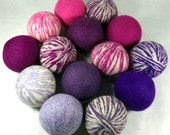 Wool Dryer Balls - Purple People Eater Swirls - Set of 14 - An Eco-Friendly Alternative to the Conventional Dryer Sheet and Fabric Softener!