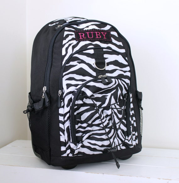 Large Rolling Backpack With Monogram Pottery Barn Teen