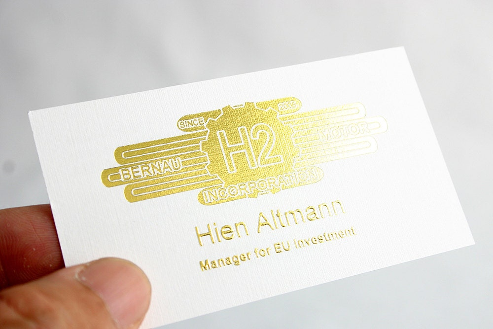 200 business cards metallic foil stamped 16 pt heavy linen for 200 business cards