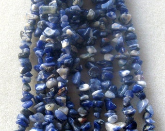 """Sodalite Chip Beads Necklace Designs Jewelry Designs Gemstone Beads Endless Loop Stone Beads Blue 34"""" Strand (1) Sodalite Beads Craft Supply"""