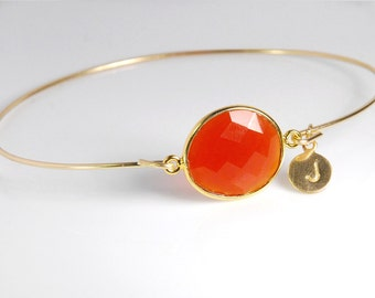 Carnelian bracelet, 14K gold fill bracelet, personalized gemstone bracelet, personalized jewelry, with genuine natural gemstone