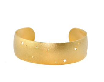 Capricorn Gold Flash Constellation Cuff Bracelet