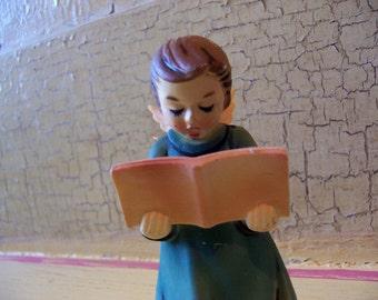 adorable caroler plastic ornament figurine