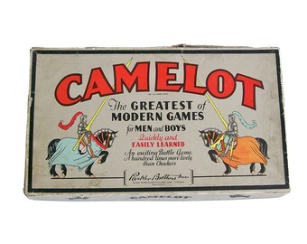 "1930s Parker Brother's Camelot Board Game ""Beautiful Graphics"""