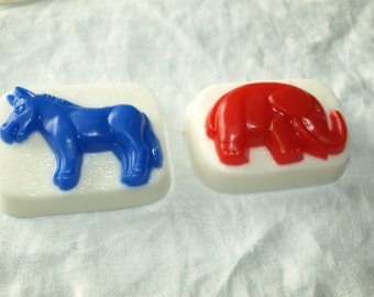 Political Soap Elephant for Republicans and Donkey for Democrat