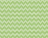 Small Green tone on tone Chevron  Cotton Riley Blake Fabric in Yard 3/4 Half  and 4ht  a Yard Sewing/ Quilting/ Crafting/ Applique Sewing