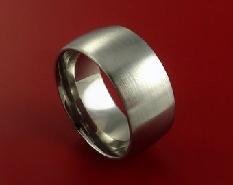Titanium Wide Wedding Band Unisex Engagement Rings Made to Any Sizing 3 to 22