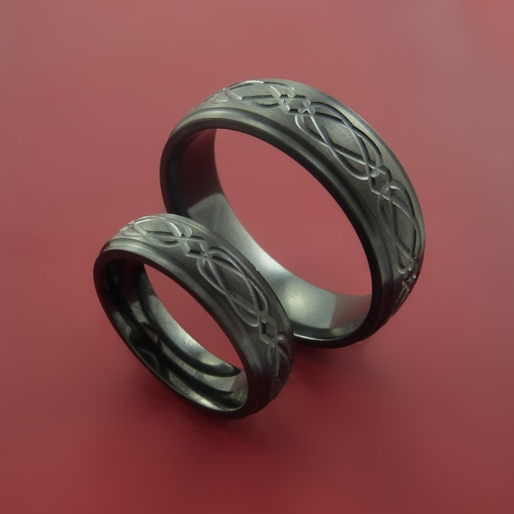 His and her celtic band infinity symbolic wedding ring set custom made
