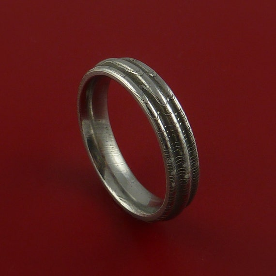 Damascus Steel Ring Wedding Band Genuine Any Size