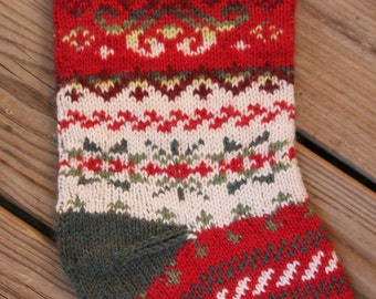 Snowdance Christmas Stocking Knit Pattern PDF