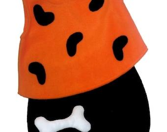 Ready To Ship 24M/2T Flintstones Pebbles Halloween Costume Set Boutique PAGEANT Orange Black