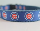 Hemp dog collar - Chicago Cubs