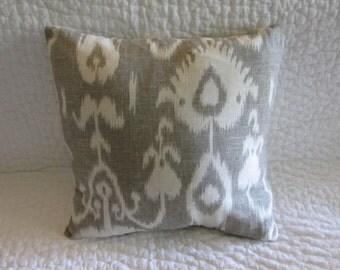 Gray Ikat Designer Pillow Cover