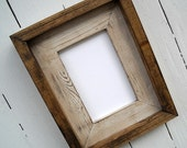 8.5 x 11  Cream Rustic Stacked And Stained Picture Frame, Rustic Home Decor