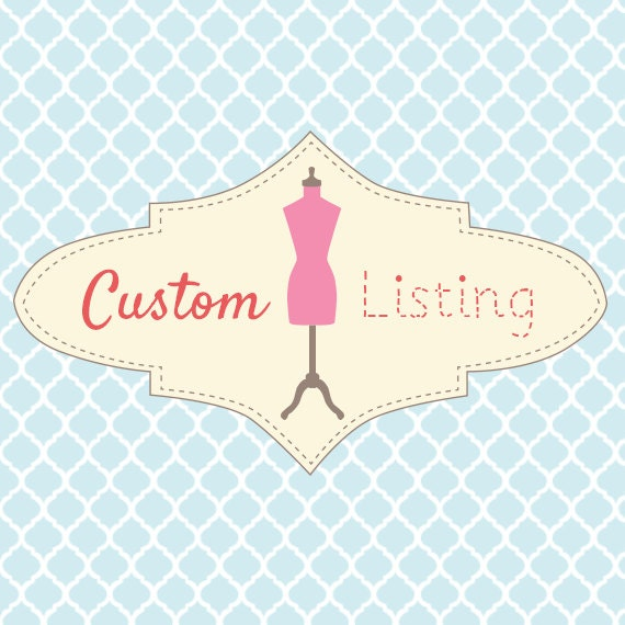 Custom Listing for Monique