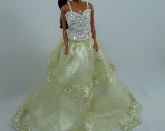Barbie Doll Gown Lace Dress Royalty AB20