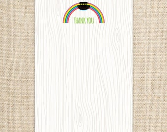 Noah's Ark Rainbow Thank You Card Design by FLIPAWOO  - Instant Download Printable PDF File