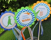 DINOSAUR Centerpiece Sticks - Dinosaur Theme Birthday Party Centerpieces - Dinosaur Birthday Party Decorations - Set of 3