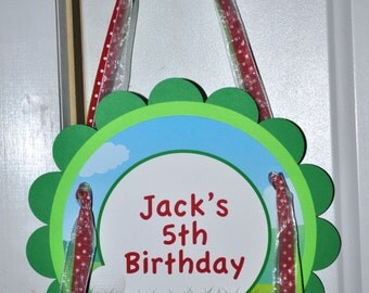 Golf Birthday Party Door Sign, Golf Party Decorations, Party Welcome Sign