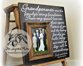 Grandparents Thank You, Wedding Thank You Gift For Grandparents, Personalized Wedding Frame, 16x16