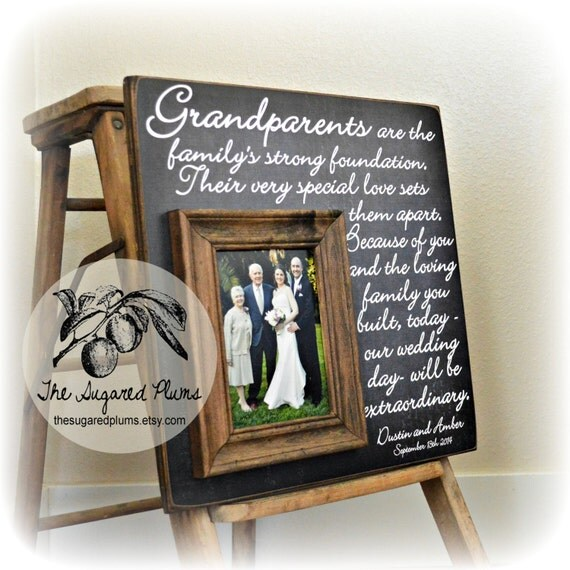Wedding Gifts For Parents And Grandparents : Grandparents Thank You, Wedding Thank You Gift For Grandparents ...